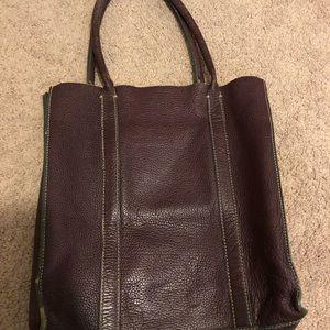 Jcrew burgundy leather bag